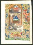 Book of Hours Leaf, c. 1480 - The Pentecost