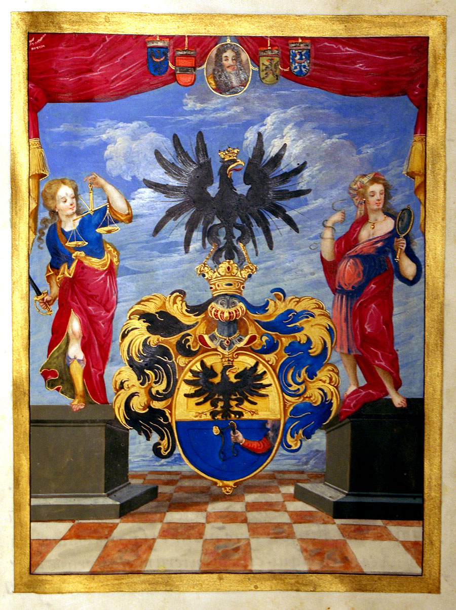 9de3d786c Leopold I Illuminated Grant of Arms with Royal Seal, c. 1699 [D-1528] -  $0.00 : Antique Manuscripts, Maps, Prints and Antiquities -