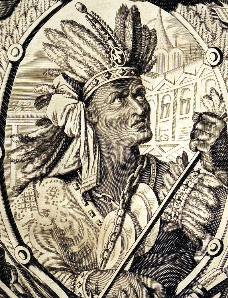Athabalipa - Last King of Inca Empire c 1671 - Montanus