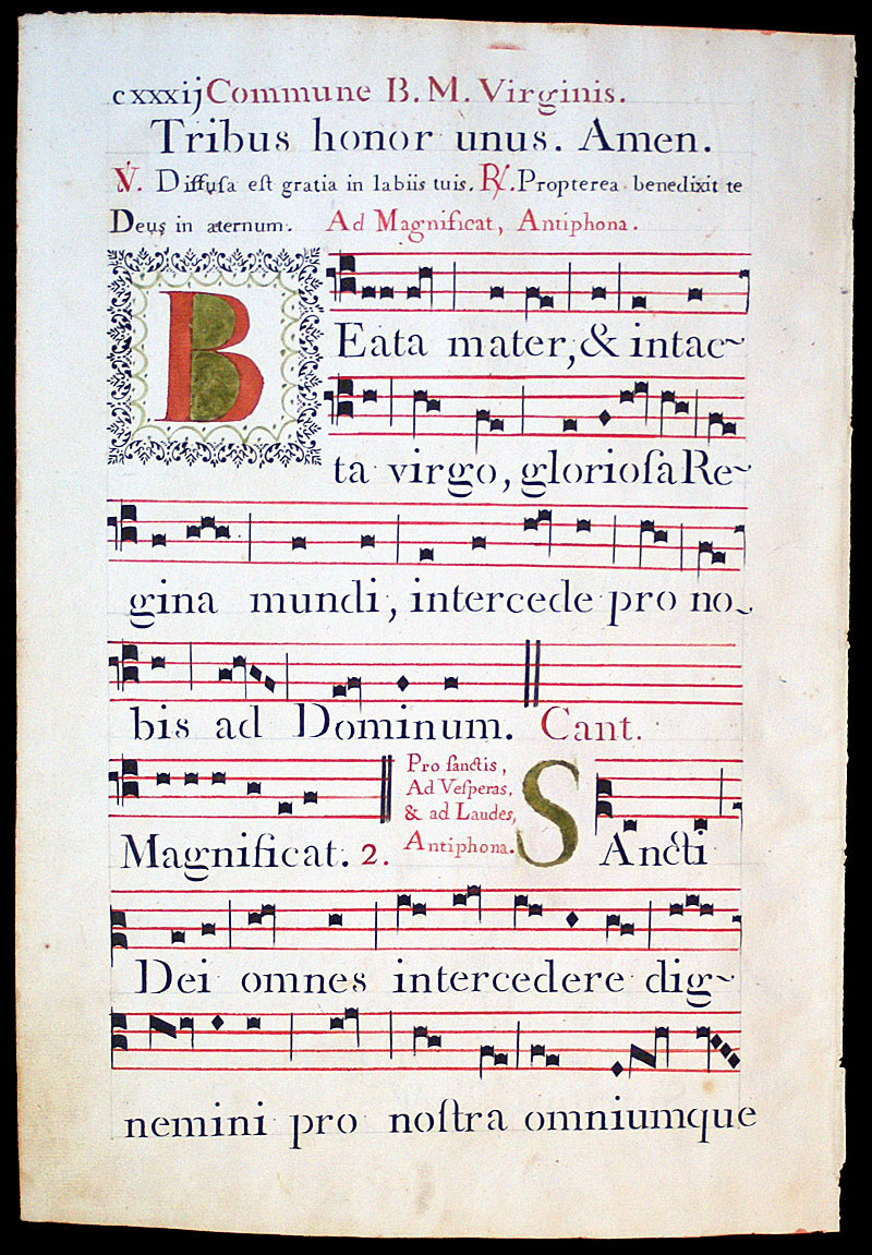 Gregorian Chant - 1778 - Four-line stave - Italy [IM-11293] - $0 00