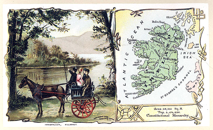 Map Of Ireland To New York.Ireland In The 1880 S Arbuckle Bros