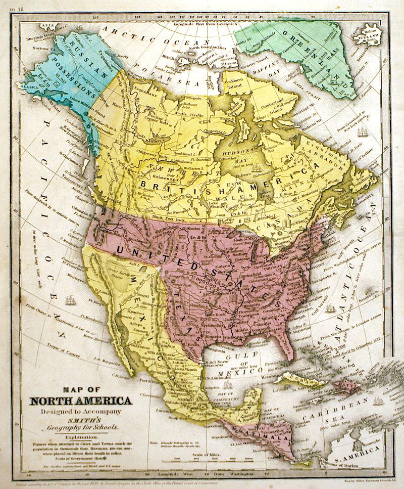 Map Of North America C 1846 Burgess M 13086 0
