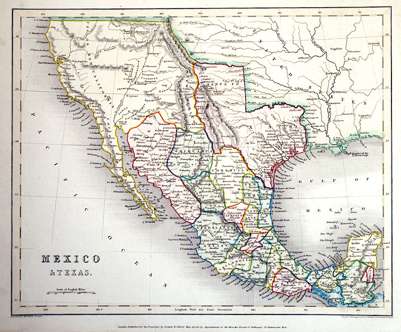 mexico texas c 1841 republic of texas archer m 13277 52500 antique manuscripts maps prints and antiquities
