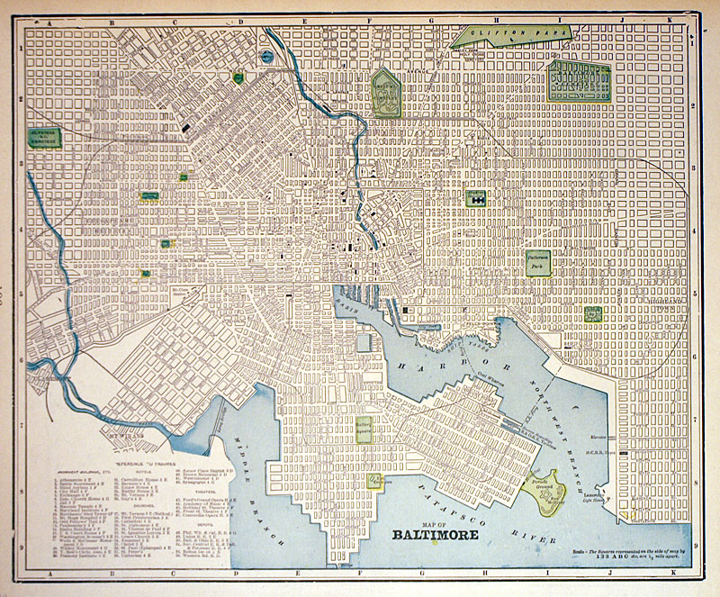 Map of baltimore c 1899 cram very detailed m 1580 000 map of baltimore c 1899 cram very detailed m 1580 000 antique manuscripts maps prints and antiquities gumiabroncs Gallery