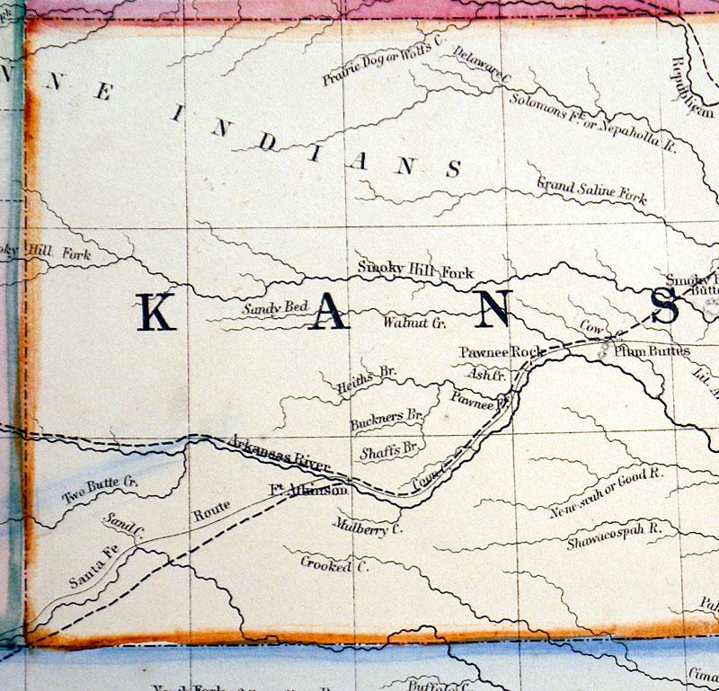 Map Of Kansas Nebraska And Colorado C 1864 Mitchell M 9463