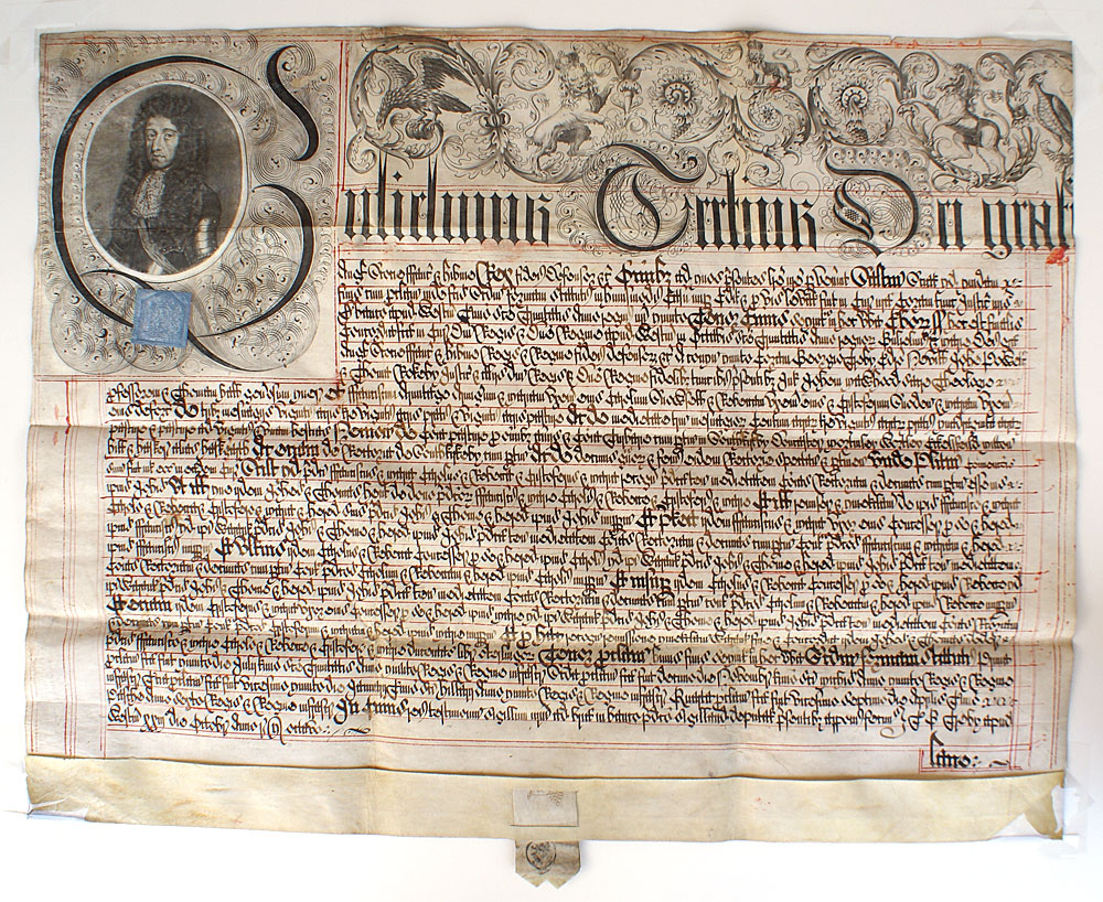 Manuscript English Legal Document c. 1696 - William III