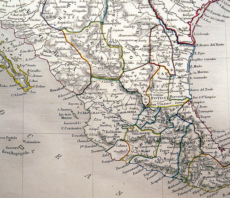 Mexico Guatimala Republic Of Texas C 1840 Hall M 10074
