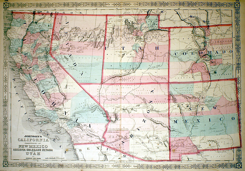 CALIFORNIA, TERRITORIES OF NEW MEXICO ARIZONA COLORADO...\'\' [M-11323 ...