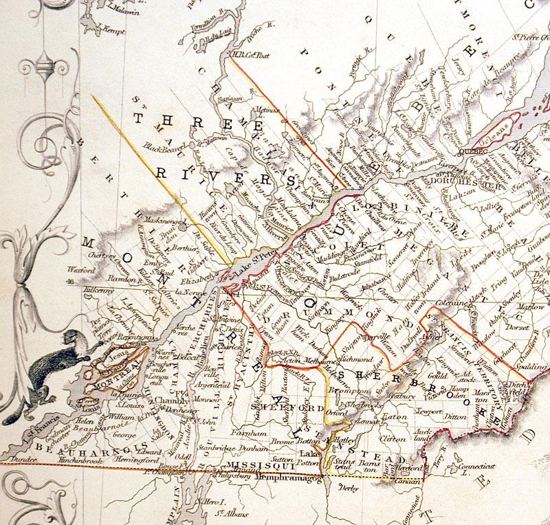 Map Of Canada In 1850.East Canada C 1850 Tallis M 12202 175 00 Antique
