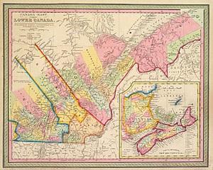 Map Of Canada 1850.Canada East Formerly Lower Canada C 1850 Cowperthwait M 1259
