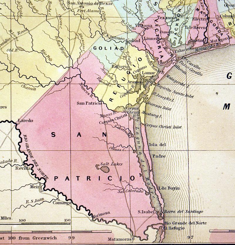 Map Of Texas C 1850 Cowperthwait M 8002 0