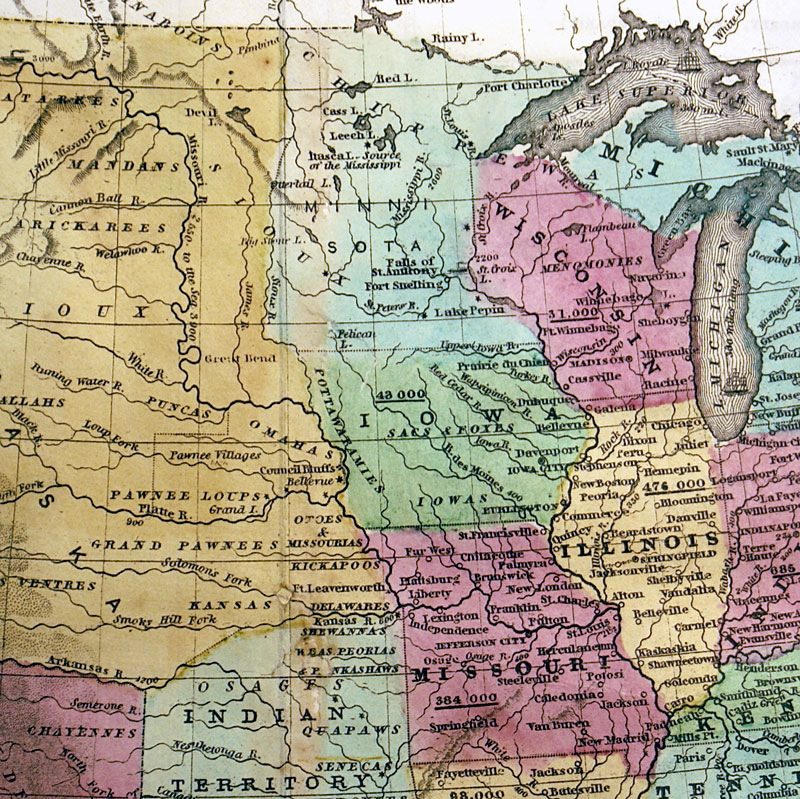 States Of Canada Map.Map Of The United States And Canada C 1846 Burgess M 9373