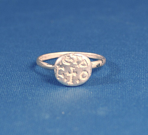 Silver Ring, Christian Inscription